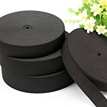 Elastisch Gevlochten Elastische Koord, 1/24 (1mm) Dikte Elastische Band Voor Naaien DIY Ambachten-zwart-2inch 5cm 46Yards
