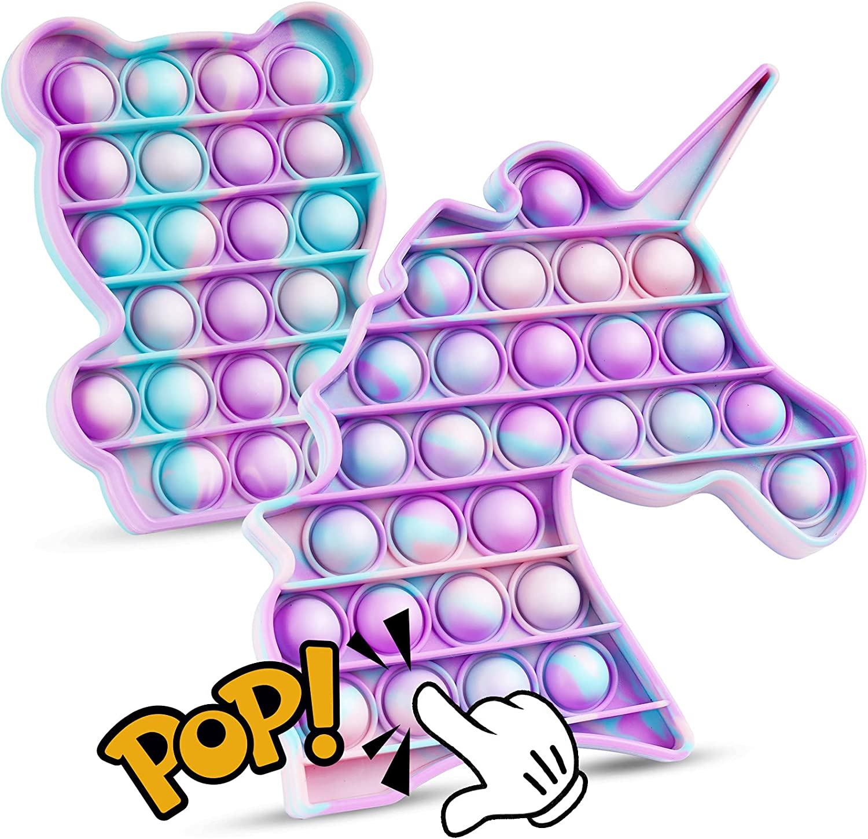 NiHealth Ranking TOP1 Fidget Pack 2PCS Push Toys Bubble Sensory St Pop Very popular!