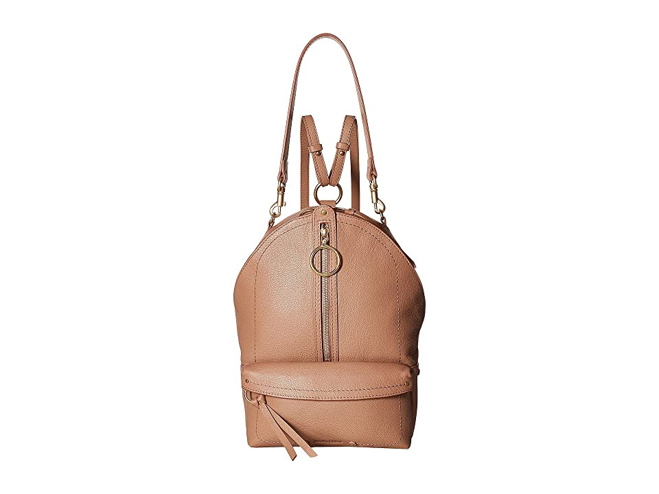 See by Chloe Large Mino Leather Backpack (Nougat) Backpack Bags