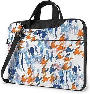 "Houndstooth Sem Costura Laptop Bag Protective Case Computer Messenger Briefcase Women Men 13"""