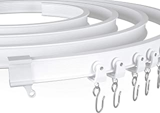 NeatiEase Tringle de rideau de plafond courbé, rail de plafond flexible incurvé pour rideaux, séparateur de pièce, rideau ...