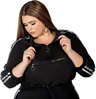 Tamela Mann Collection Windrunner Crop Active Jacket - Plus Size Athleisure Wear, Plus Workout Clothes