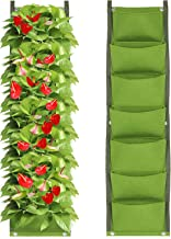 IWNTWY 7 Pockets Vertical Hanging Planter, Wall Mount Garden Grow Bag for Indoor Outdoor Yard Balcony Planting Strawberrie...