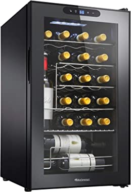 Wine Enthusiast 24-Bottle Compressor Wine Cooler with Upright Bottle Storage