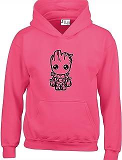 JLB Print Baby Groot Cartoon Super Hero Movie & Comic Book Fan Premium Quality Unisex Hoodies for Men, Women and Teens