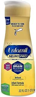 Enfamil NeuroPro Ready to Feed Baby Formula Milk, 32 fluid ounce - MFGM, Omega 3 DHA, Probiotics, Iron & Immune Support