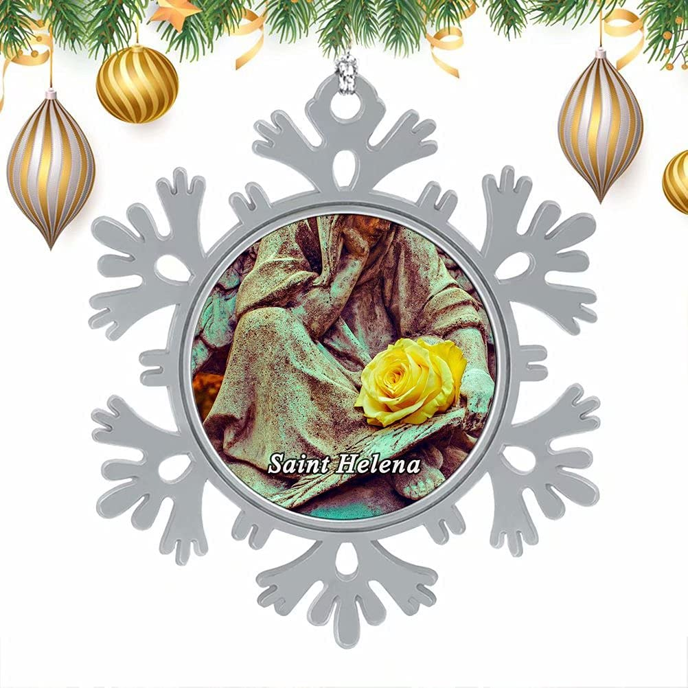 Santa Elena Navidad Árbol de Navidad Copos de Nieve Adornos de Metal Adornos Colgantes Decoración del hogar 3
