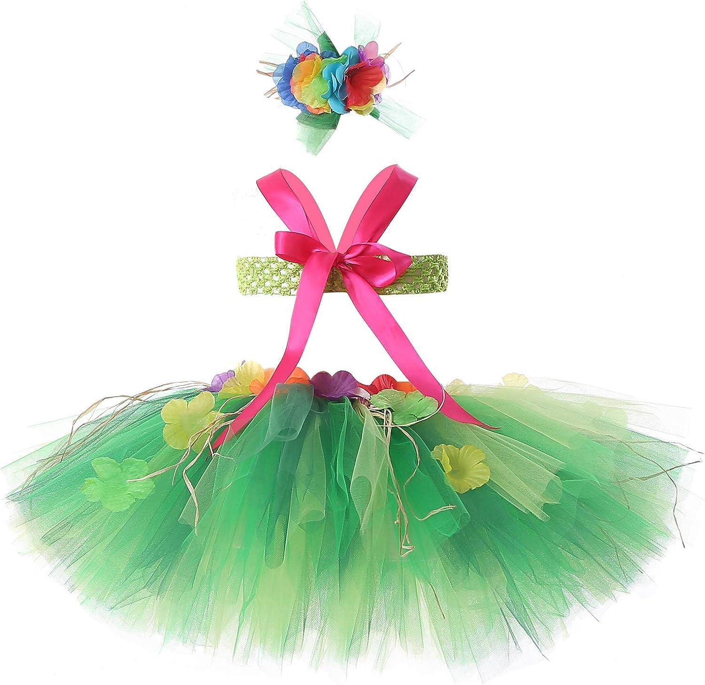 Tutu Dreams 3pcs Hawaiian Hula Luau Tutu Set (2 Sizes: Girls,Baby) Birthday Beach Party : Clothing, Shoes & Jewelry