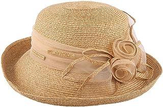 WN - Sombrero - Sombrero de Paja, para Mujer, Verano, Visera Solar, Viaje al Aire Libre, Protección UV, Sombrero para el Sol, Sombrero para el Sol, Cubierta, Sombrero Fresco (2 Colores) Sombrero para
