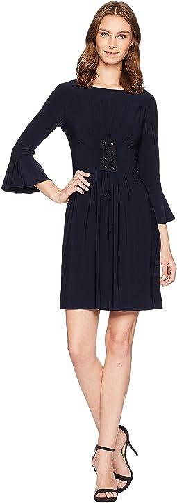Matte Jersey Lace-Up Dress