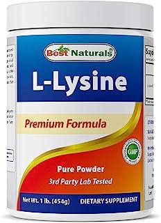 Best Naturals Lysine Powder, 1 Pound - 100% Pure