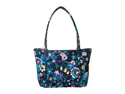 Vera Bradley Carson East/West Tote (Moonlight Garden) Tote Handbags