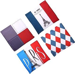 SOIMISS 4Pcs Fronha Com Bandeira Padrão Lance Fronha Praça Fronha de Almofada Covers Protector Presentes para Sofá Cama So...