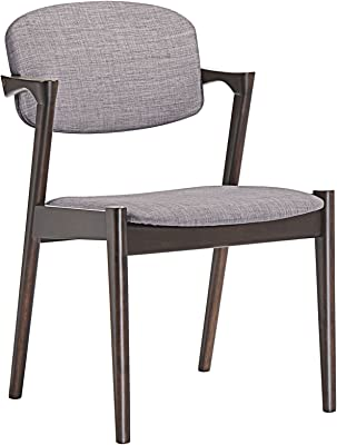 Plutus Brands MF0360 Dining Armchair, Walnut/Gray