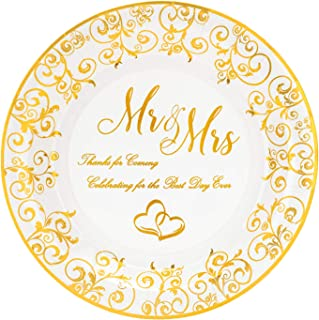 mr and mrs wedding plates