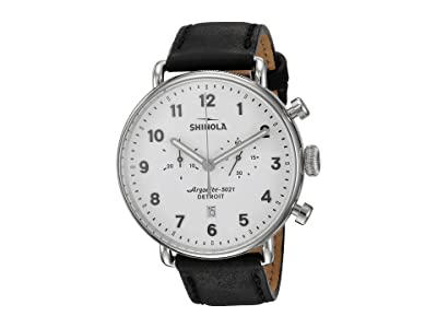 Shinola Detroit The Canfield 43mm 20001941 (White/Black) Watches