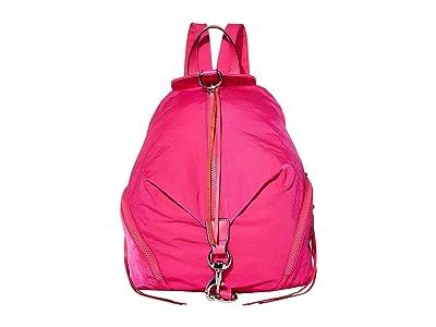 Rebecca Minkoff Julian Nylon Backpack (Magenta) Backpack Bags
