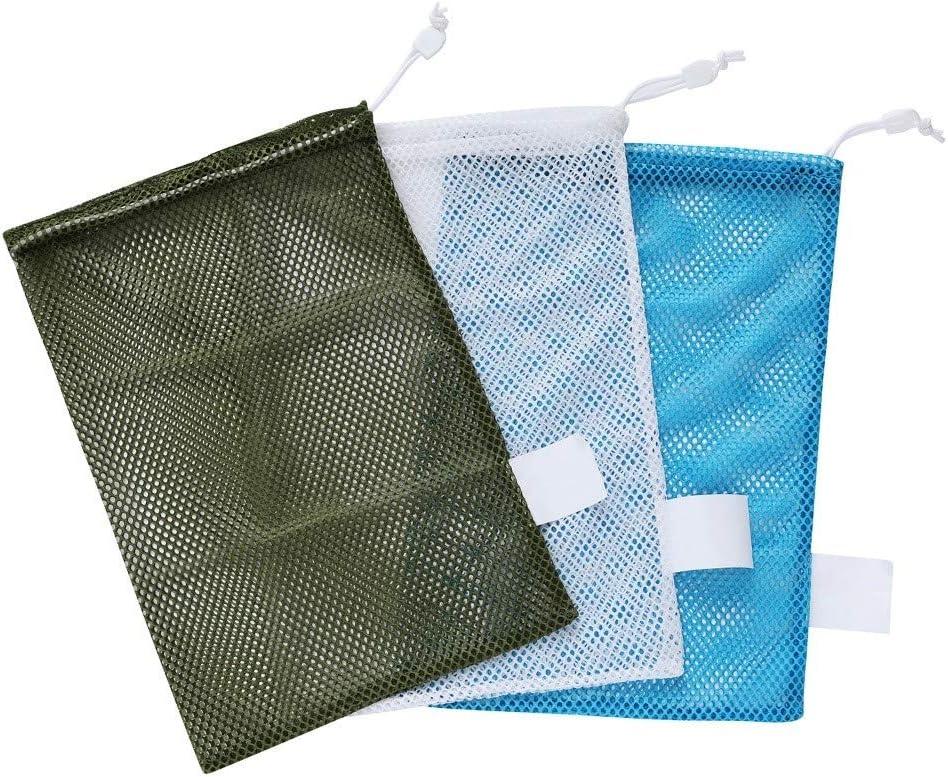 3 quality assurance PCS SAKO Mesh Sports Equipment 18 x 12 Bag Multip San Antonio Mall Inches