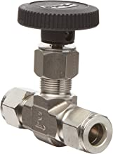 Parker V Series Stainless Steel 316 Needle Valve, Inline, Hand Wheel, PCTFE Tipped Stem, 1/4