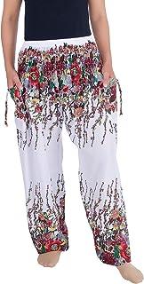 Lannaclothesdesign Women's Flowers Yoga Boho Pants Long Beach Summer Harem Pants