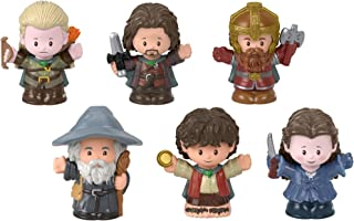 Fisher-Price Little People Collector Lord of The Rings Juego de figuras, 6 figuras de personajes de la película en paquete regalo para los fans de Tolkien edades 1 – 101 años