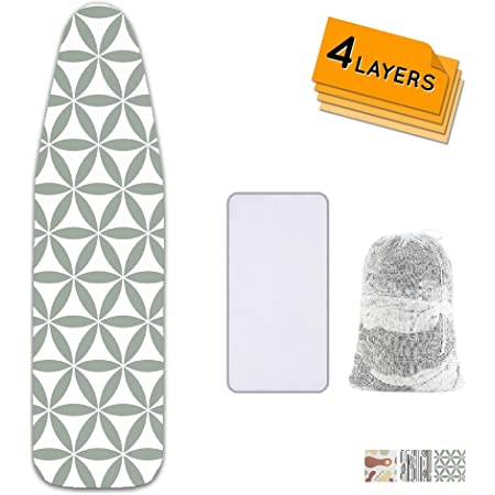 Details about  /Ironing Board Cover Coated Thick Padding Heat Resistant And Scorch Pad 140×50cm