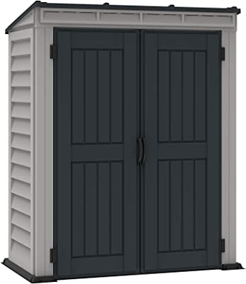 Amazon.com : Rubbermaid FG374901OLVSS Vertical Storage Shed ...