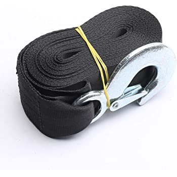 """Truck Tow Winch Straps 2/""""x 20/' Rope Hook Car Boat Trailer 10000 LBS Max Towing"""