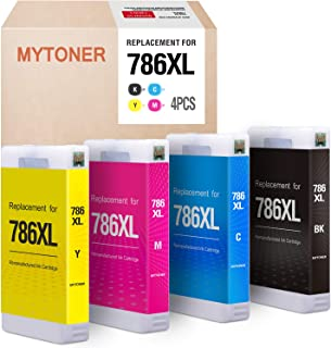 MYTONER Remanufactured Ink Cartridge Replacement for Epson 786 XL T786XL 786XL for Workforce Pro WF-4630 WF-4640 WF-5690 WF-5620 WF-5110 WF-5190 (Black, Cyan, Magenta, Yellow, 4-Pack)