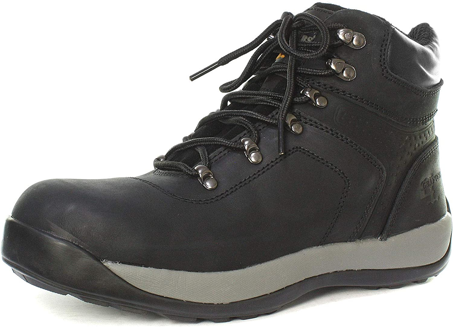 Grafters M868A Unisex Leather Ankle Safety Boots Black
