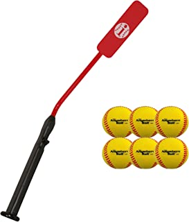 Insider Bat Size 7 (Ages 12 and Up) & Anywhere Ball Complete Baseball Softball Batting Practice Kit