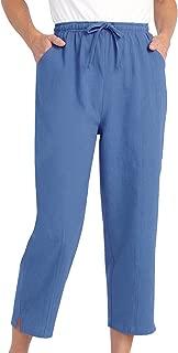 Drawstring Capri Pants with Pockets for Women