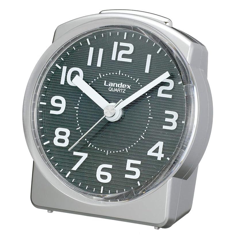 ビバステーキ分析的ランデックス(Landex) 目覚まし時計 アナログ 連続秒針 発光大王 シルバー YT5157SV