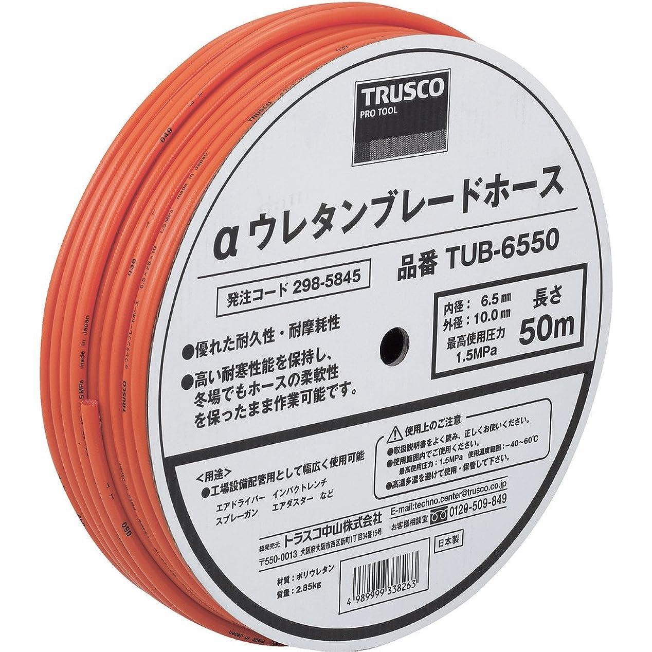 可塑性規制サロンTRUSCO(トラスコ) αウレタンブレードホース 8.5X12.5mm 50m ドラム巻 TUB-8550