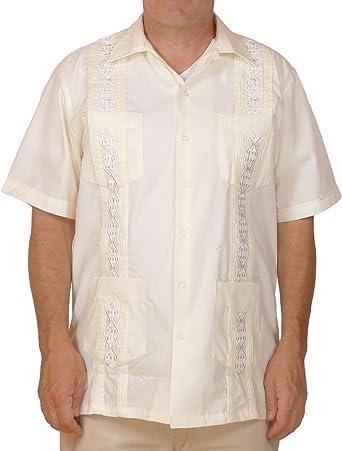Squish cubana estilo guayabera camiseta/crema