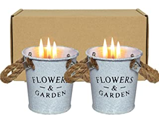GGonioa 2 Pack Citronella Candles,Natural Soy Candle,Aromatherapy Scented Candle Bucket with Pure Citronella Oil Gift Set ...