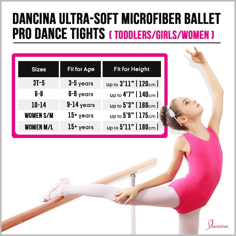 Microfibra Ultra Suave 120 DEN para Ni/ña y Mujer Dancina Medias de Danza y Ballet Convertibles