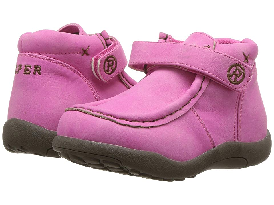 Roper Kids Moc (Toddler) (Pink Faux Leather) Girls Shoes