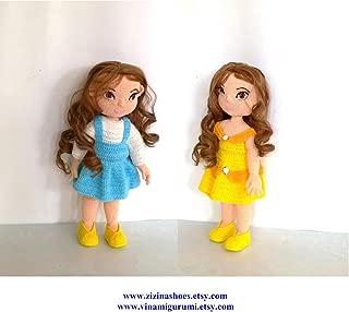 Doll amigurumi: Belle animator doll amigurumi pattern