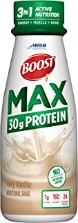 BOOST Max High Protein Nutritional Drink,, Very Vanilla, 11 Ounce Bottle (Pack of 12)