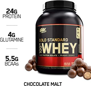 Optimum Nutrition Gold Standard 100% Whey Protein Powder, Chocolate Malt, 5 Pound