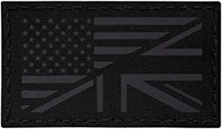IR Blackout USA UK Union Jack Friendship Flag 2x3.5 Infrared Tan IFF Tactical Morale Touch Fastener Patch