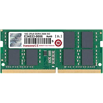 Transcend Information 16GB DDR4 2666 SO-DIMM 19-19-19 2Rx8 1Gx8