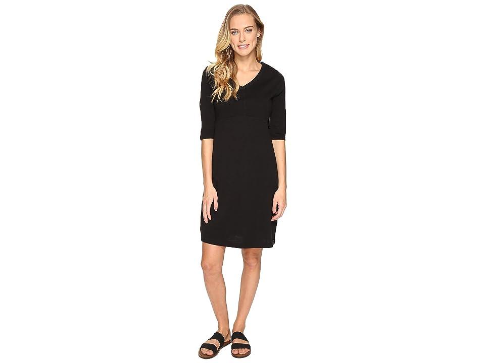 Woolrich First Forks Convertible Sleeve Dress (Black) Women