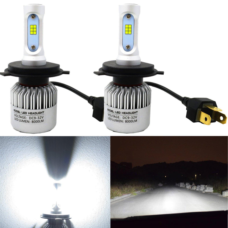 Alla Lighting HB3 9005 LED Headlights Bulbs Extreme Super Bright CSP 6000K ~ 6500K Xenon White 9005XS 9005LL Conversion Kit Headlights DRL Replacement for Cars Trucks