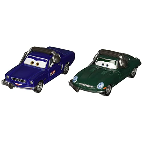 Disney/Pixar Cars Brent Mustangburger with Headset and David Hobscapp with Headset Vehicle 2-pack