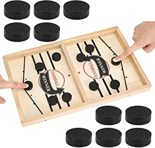 Fast Sling Puck Game, Tabletop Slingshot Games Toys for Boys and Girls, Desktop Sport Board Game for Family Game Night Fun...