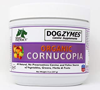 Dogzymes Cornucopia Mix of 22 Fruit and Vegetable Organic Powders for Diet and Added Nutrient Value for Dogs and Cats