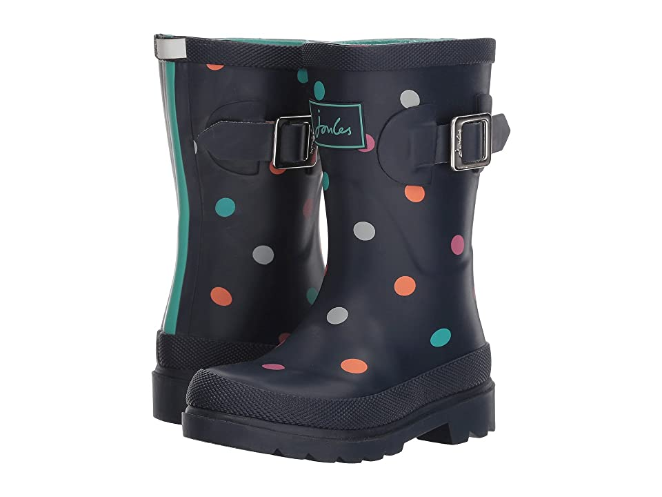 Joules Kids Printed Welly Rain Boot (Toddler/Little Kid/Big Kid) (Navy Tiny Spot) Girls Shoes