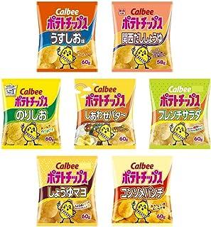 【関西限定】 カルビー ポテトチップス 7種のアソート 合計14袋セット